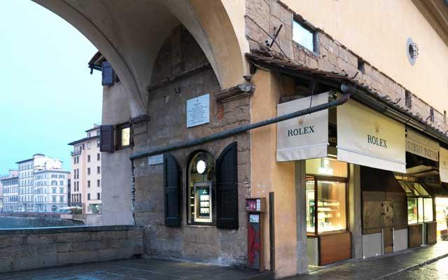 The Cassetti Boutique on Ponte Vecchio, Rolex official retailer