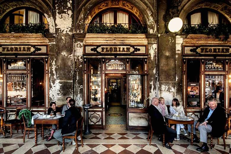 The facade of Caffé Florian