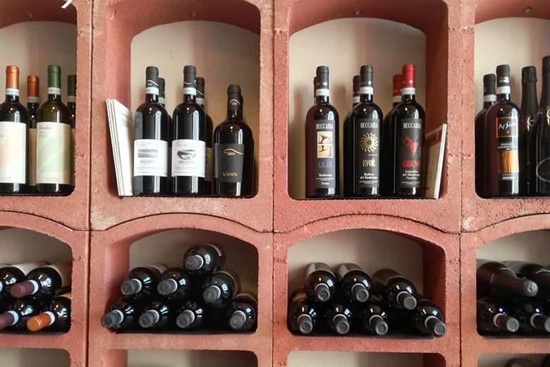 Bottles at the Enoteca Regionale di Vignale Monferrato